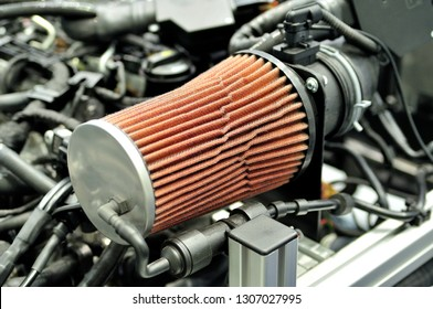 Sport air filter for car engine.