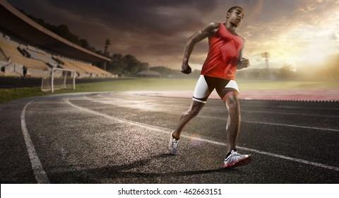 Sport. athletics running track