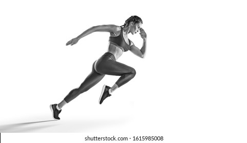 Sport backgrounds. Runner. Isolated scene.