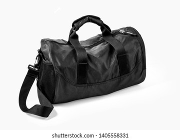 Sport bag isolated on the white background with clipping path