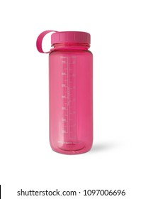 Sport bottle water on isolated white background. With clipping path.