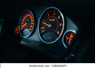 Sport car tachometer and dashboard with  backlight