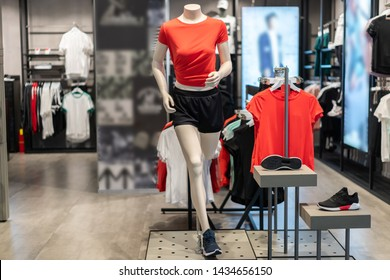 sport clothes in shopping mall