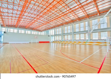 Sport complex in university Thailand,school gym indoor.