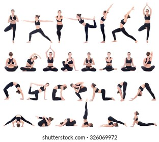 Yoga Poses Images Stock Photos Vectors