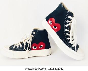 Sport custom shoes on white background