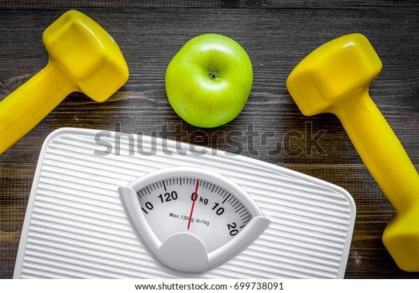 Sport Diet Losing Weight Bathroom Scale Stock Photo (Edit