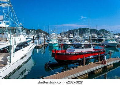 Sport fishing boats. Costa Rica, tourist paradise