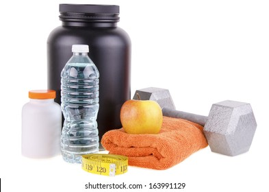 Sport and Fitness Supplement isolated on white background.