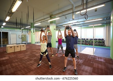 sport fitness weightlifting training concept group stock photo edit