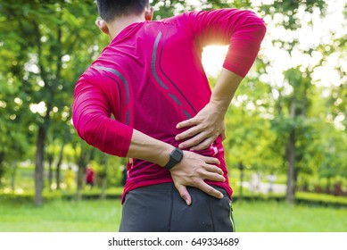 Sport injury, Man with back pain