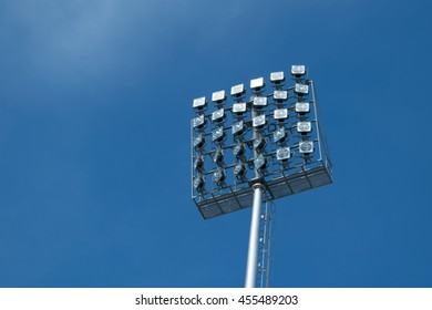 Sport light with blue sky