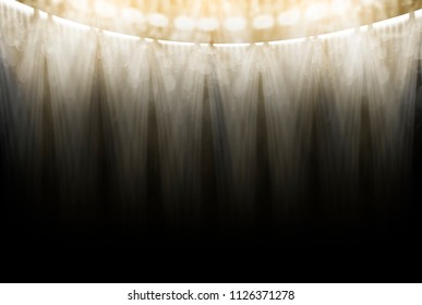 sport light with bokeh