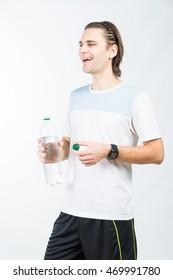 sport man on white background