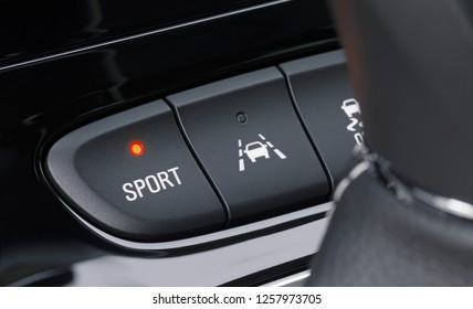 Sport mode in a modern car