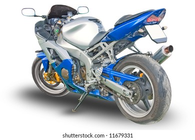 Sport Motorcycle isolated on white background
