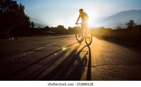 Sport. Mountain Bike cyclist