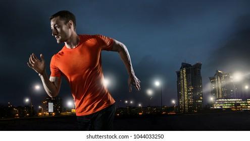 Sport. Night runner.