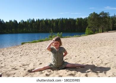 sport on a beach