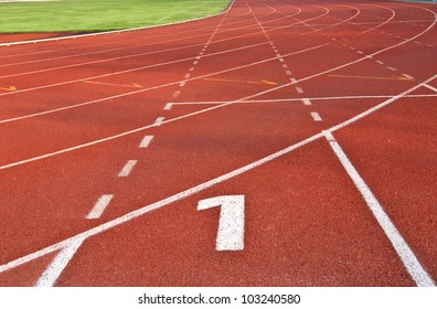 sport running track number one