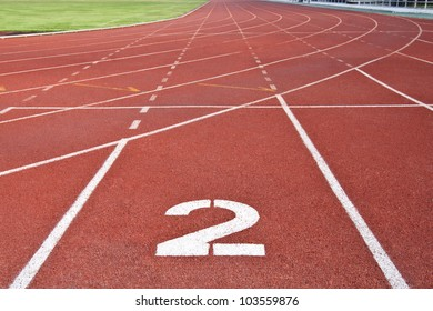 sport running track number two
