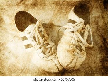 sport shoes grunge background