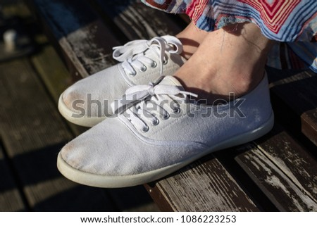 Sport shoes on the