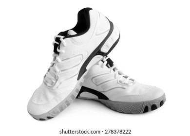 Sport shoes pair on white background