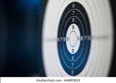 sport target shooting. close-up. shallow depth of field