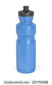 Sport water bottle on white background