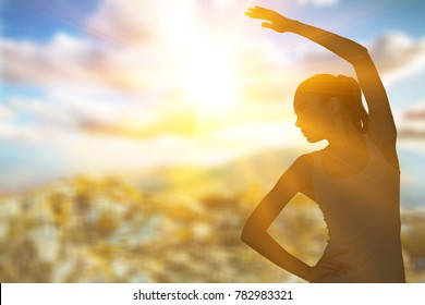 Sport woman in light sun