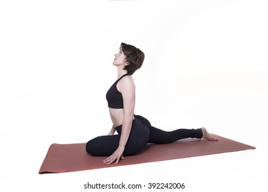 sport yoga woman isolated