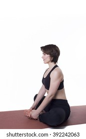 sport yoga woman isolated