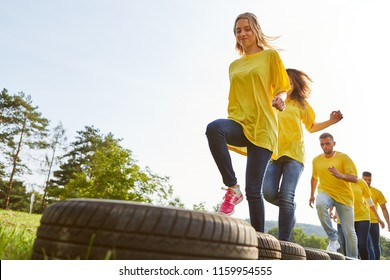 Sporting team trains endurance and fitness at a teambuilding event
