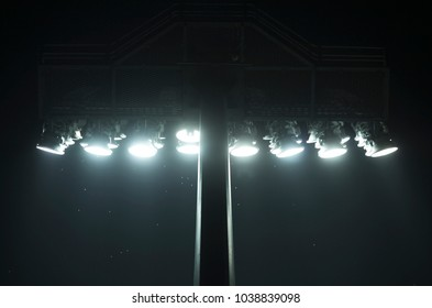 sportlight in stadium isolated dark background