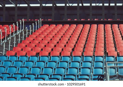 Sports arena with empty stands