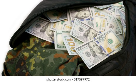 Sports bag full of money