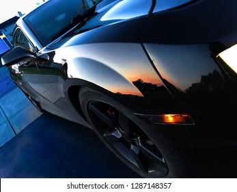 Sports car outside