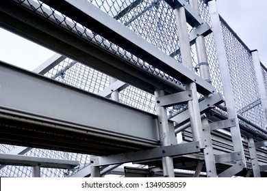 Sports Event Spectators Bleacher Rows Underneath Seats and Risers