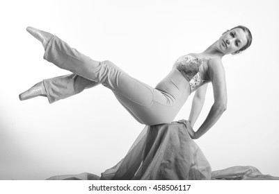 Feet Ballerina White Tshirt Stock Photo (Edit Now) 517359280
