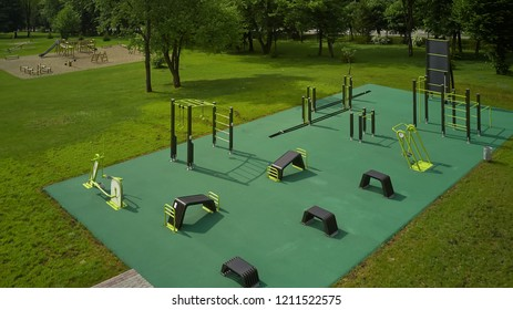 sports ground top view, sports lifestyle concept.