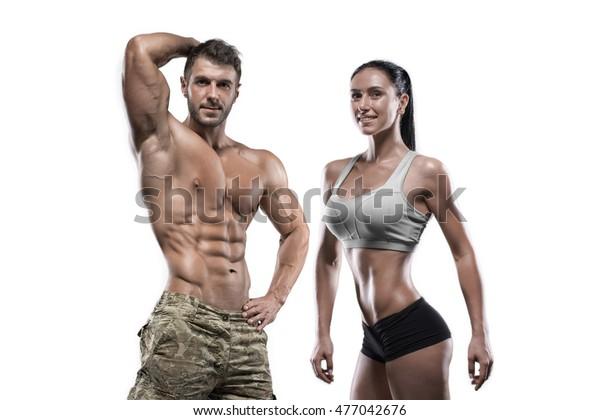 Sports Guy Sexy Girl Posing Studio Stock Photo (Edit Now) 477042676