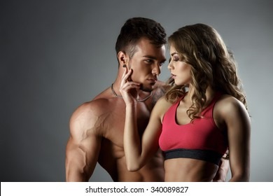 Sports and love. Attractive heterosexual couple