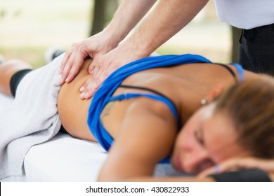 Sports massage, focus on hands