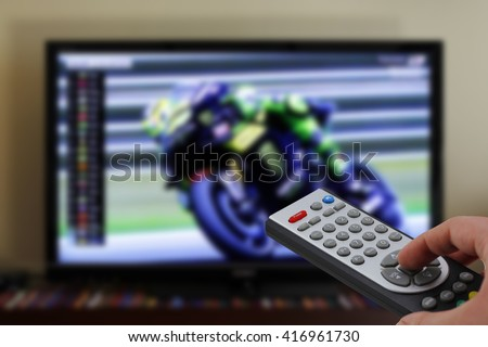Sports motorbike race zapping