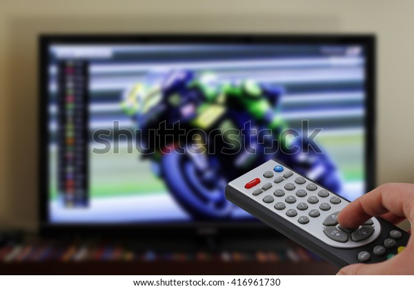Sports motorbike race zapping