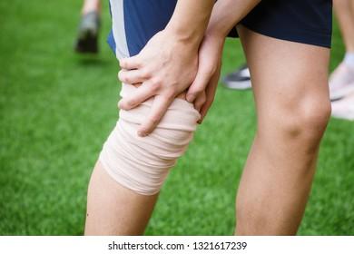 sports person injured leg