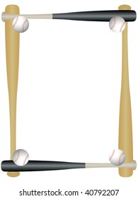 Sports picture frame - baseball
