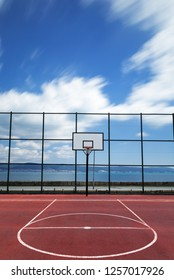 Sports playground for basketball