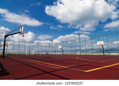 Sports playground for basketball and football
